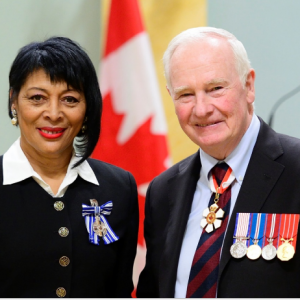 Jessica Bowden, M.S.M., receives the Governor General's Meritorious Service Medal