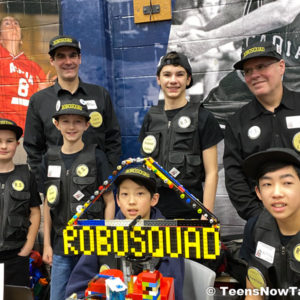 Robosquad Teens Now Talk at Lego League participants