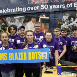 Teens Now Talk at Lego League participants