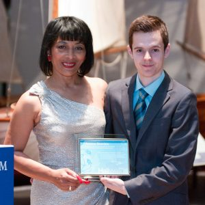 Jessica Bowden, M.S.M., receives the Hali Awards