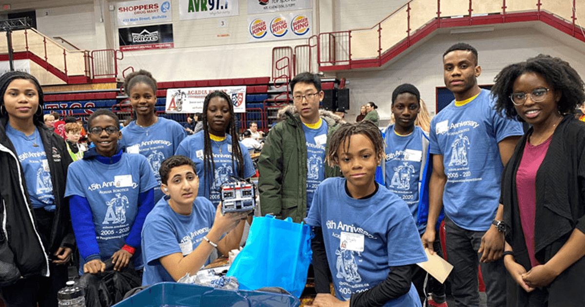 Imhotep team at the lego league championships