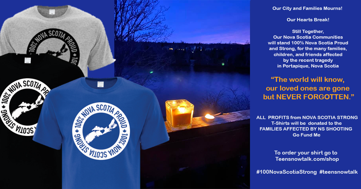 100 Nova Scotia Proud and Strong T's with profit going to families of mass shooting in Portapique, Nova Scotia